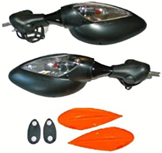 Ducati Supersport Classic Turn Signal Mirrors Black Pair 5427/28 by Moto-Science