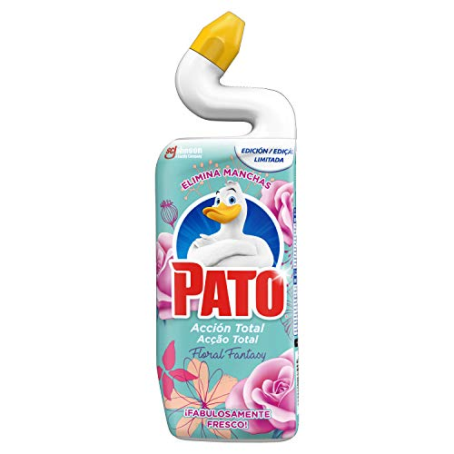 Pato Pato - Wc Acción Total Limpiador Para Inodoro Aroma Floral Fantasy, Limpia Y Perfuma, 750Ml 800 g