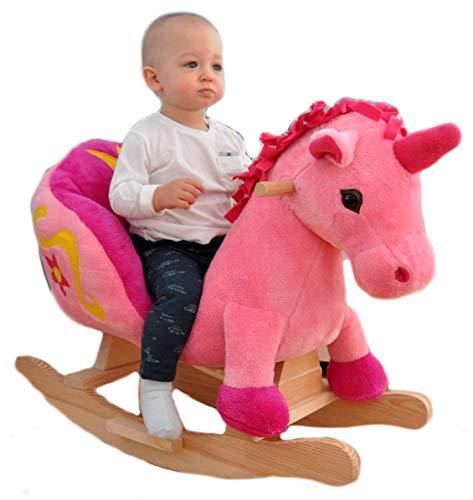 Dondolo in peluche per bambini, cavalluccio a dondolo, poltrona a dondolo. Unicorno.