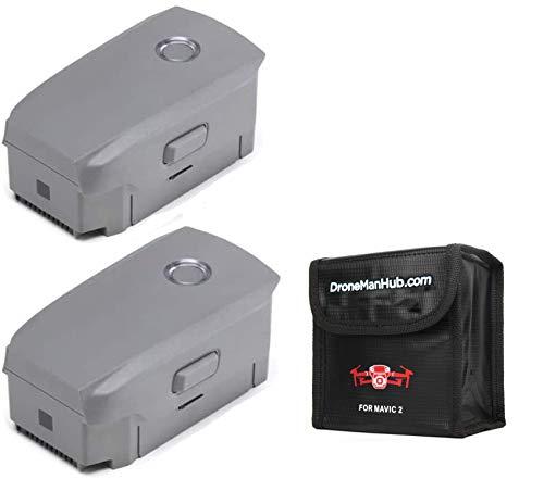 2-Pack DJI Mavic 2 Intelligent Flight Battery for Mavic 2 Zoom and Mavic 2 Pro, with Bag