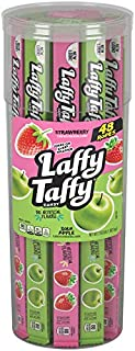 Laffy Taffy Rope, Sour Apple & Strawberry, 48 Count Canister