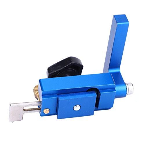 Herramienta de carpintería con límite abatible de valla, tope abatible de valla, 30# / 45# para bloquear la valla de carpintero riel en T estándar(30#+45#)