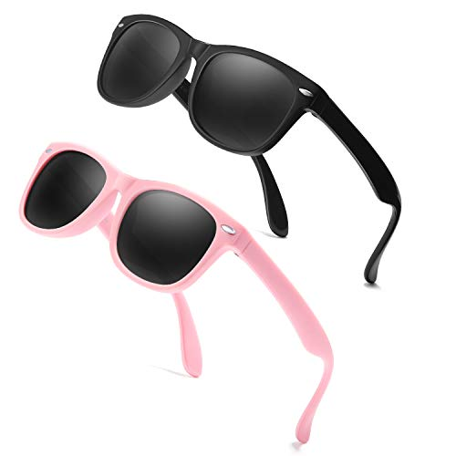 Baby Sunglasses Rubber Kids Polarized Sunglasses - FEIDU Fit Shades Glasses for Boys Girls toddler and Children Age 2-5