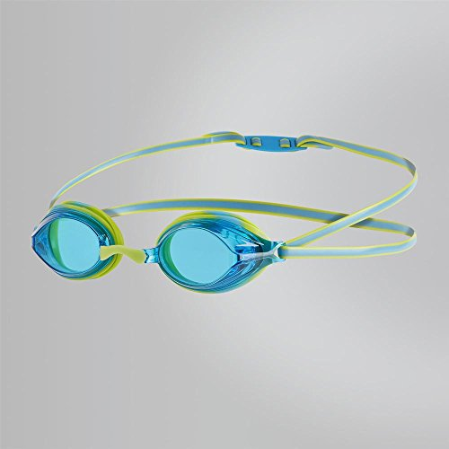 Speedo Vengeance Gog Ju Occhialini da Nuoto, Bambino, Lime Punch/Japan Blue Taglia Unica