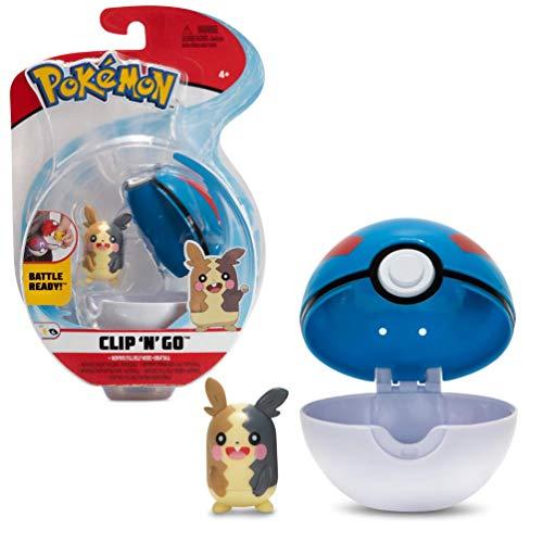 PoKéMoN Clip  N  Go Morpeko e Poké Ball | Contiene 1 Statuetta da 5 cm e 1 Poké Ball | Nuova Ondata 2021 | Licenza Ufficiale