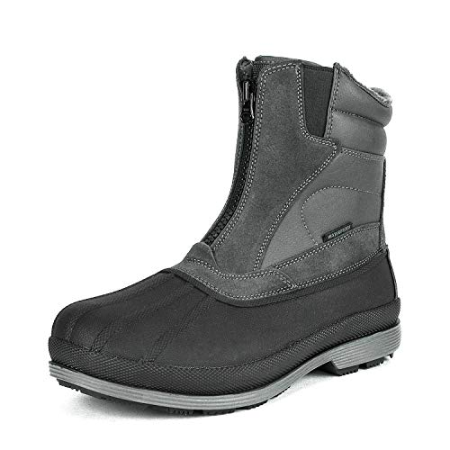 NORTIV 8 Men's 170410 Grey Black Insulated Waterproof Construction Hiking Winter Snow Boots Size 11...