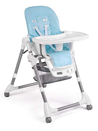 Hochstuhl Kinderhochstuhl Babyliege mit Tablett Simo blau Ricokids