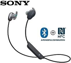Sony WI-SP600N Black Premium Waterproof Bluetooth Wireless Extra Bass Sports In-Ear 6 Hr Of Playback Headphones/Microphone (International version)