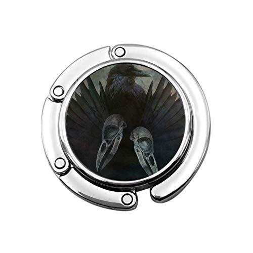 Diseño de espíritu de Cuervo con Cabeza Calaveras alas Negras Gancho Soporte para Bolso Perchas para Escritorio único