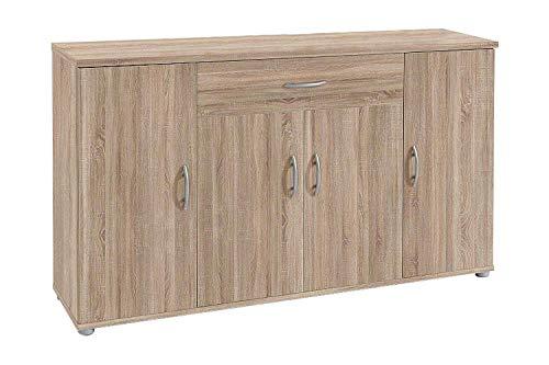 AVANTI TRENDSTORE - Lilo - Comò e mobili con Ante, in Stile Moderno in Legno Laminato, Disponibile in 2 Diversi Colori e Diverse Misure (118x70x30 cm, Marrone)