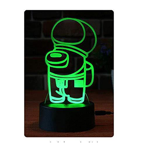 Entre nosotros Lámpara de mesa, 3 colores 3D Illusion Gift Night Light para niños Boys Men Girls-2_tres colores