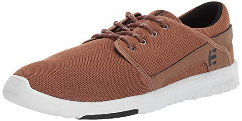 Etnies Men's Scout Low Top Sneaker Shoes Tan/Black 11