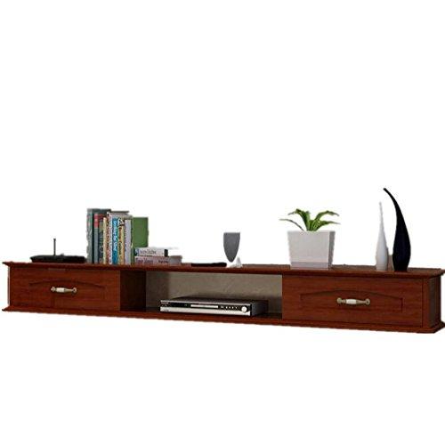 Continentaal Massief hout Verf Muur opknoping TV kast slaapkamer Aan de muur Set bovenste doos Plank woonkamer TV wandplank 100/120/140 cm 2 kleur optioneel