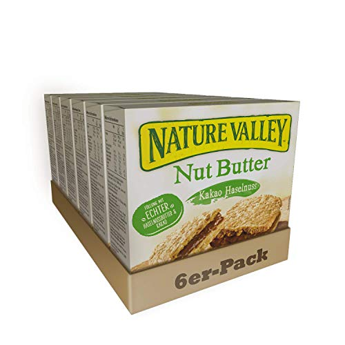 Nature Valley Nut Butter Kakao Haselnuss, 6er Pack (6 x 152 g Multipack mit je 4 Riegeln)