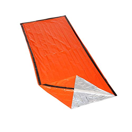 Multi Function Outdoor Emergency Sleeping Bag First Aid Radiation Protection Insulation Insulation Life-saving Sleeping Bags 213 * 91CM (Orange)