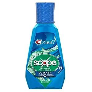 Crest Scope Outlast Mouthwash, Long Lasting Peppermint, 1 L