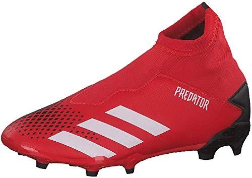 Adidas Predator 20.3 LL FG J, Zapatillas Deportivas Fútbol Unisex Infantil, Gris (Active Red/FTWR White/Core Black), 36 2/3 EU