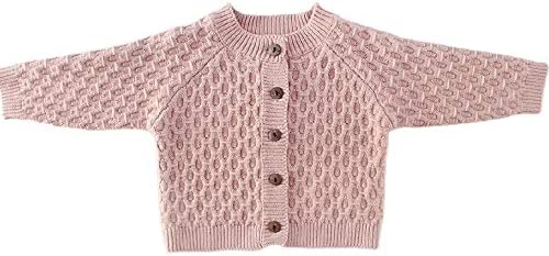 Newborn Baby Girls Cable Knit Cardigan Cotton Sweater Coat Winter Warm Outerwear Unisex Basic product image