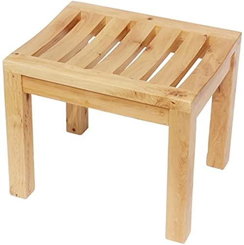 Duschsitz Duschhocker Multifunktionale Massivholzhocker Badezimmerhocker für Erwachsene / Badewanne Hocker / Dusche Sitze Hocker Anti-Skid Naturholz Produktion Badestuhl Anwenden für ältere Menschen,