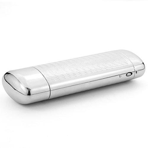 EZESO Brillen Aluminium Etui Hartschalen Brillenetui Silber