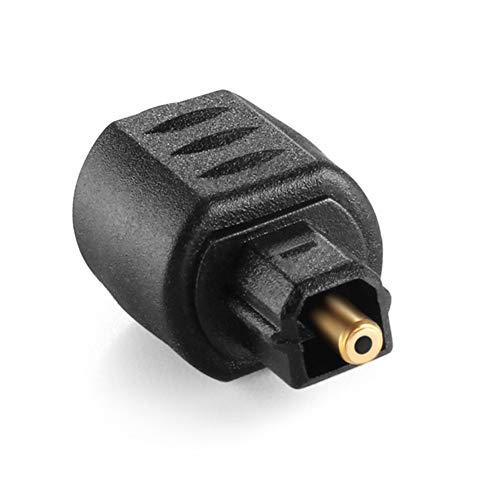Abilieauty - Conector mini jack hembra de 3,5 mm para adaptador de audio digital Toslink macho