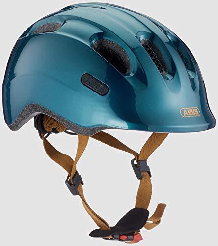 ABUS Smiley 2.0 Royal Kinderhelm - Robuster Fahrradhelm für Kinder - für Mädchen und Jungs - 77546 - Grün/Gold, Größe S