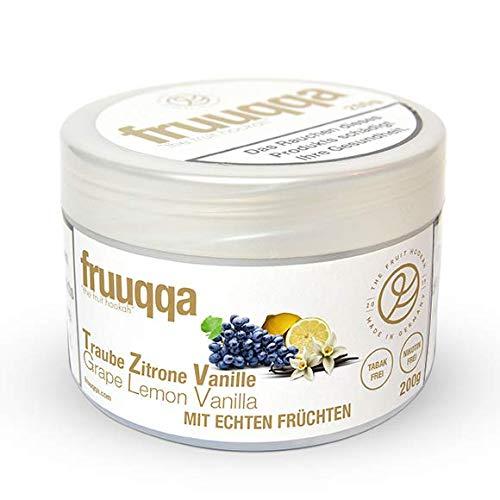 Fruuqqa Shisha Tabakersatz Nikotinfrei 200gr Traube Zitrone Vanille