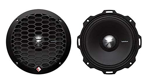 Rockford Fosgate PPS4-6 6.5' 400W 4-Ohm Midrange Car Audio Speaker Pair with Fiber Reinforced Paper Cone and Stamp Cast Aluminum Frame