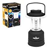 Milestone Camping 52560 Ultra Bright 12 LED Lantern / Built-In Compass / Dimmer Functionality / Sailing, Fishing Or Camping Lantern / Battery Operated / 20cm Tall