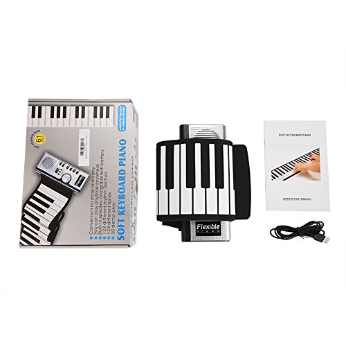 Great Features Of Neufday 61 Keys Roll Up Piano,Upgraded Portable Rechargeable Electronic Hand Roll Piano with Environmental Silicone Piano Keyboard for Beginners