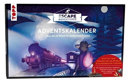 Adventskalender Escape Adventures - Der mystische Express: Löse die 24 Rätsel im mystischen Express. Mit geheimnisvollen Objekten, digitalen Extras ... (ca. 50 cm x 30,8 cm x 3,5 cm)