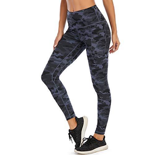 AY Leggings Sportivi da Donna con Tasche Laterali, Leggings per lallenamento dei Pantaloni Yoga a Vita Alta per Fitness Corsa Palestra Pilates.