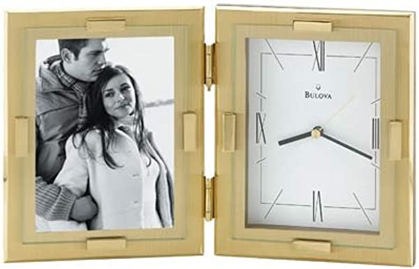 Bulova Esteem Photo Frame Table Clock