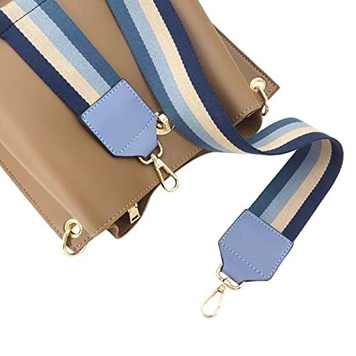 Elvam Adjustable Replacement Crossbody Bag Strap for Handbag,Shoulder Bag,Purse,Latop Bag,Gym Bag,Messenger Bag,Briefcase Etc - Blue