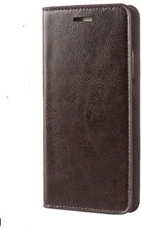 xperia xz1 compact so-02k ケース 高級 牛本革 手帳型 カード収納3枚 全面保護 カバー 安心の マグネット無し wbao エクスペリアxz1コンパクト ( エクスペリア xz1 コンパクト ダークブラウン)