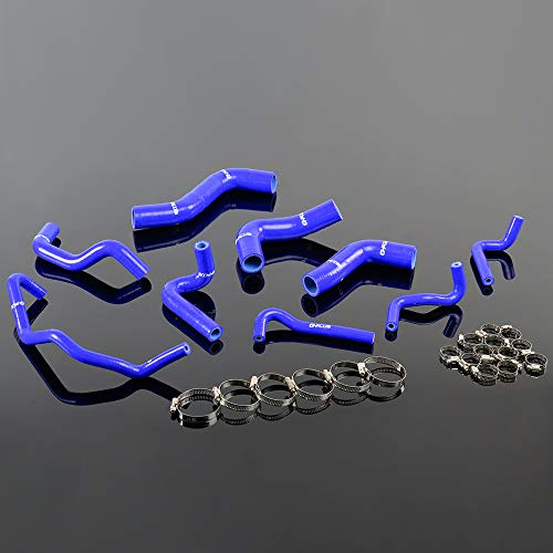 Blue For MAZDA ROADSTAR MIATA 1989-93 MX-5 NA6CE B6ZE 1.6L Silicone Coolant Hose