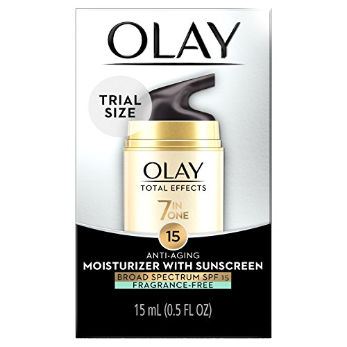 of olay anti aging moisturizers Olay Total Effects Anti-Aging Face Moisturizer with SPF 15 Fragrance-Free, Trial Size 0.5 fl oz
