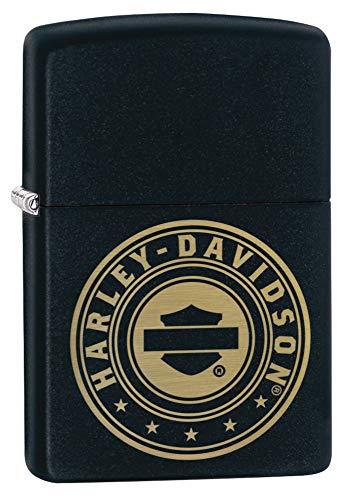 Zippo Harley-Davidson Laser Engrave Logo Black Matte Pocket Lighter