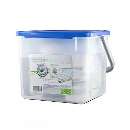 Clearwhite wasmiddel-box - bestaande uit: poeder, ontkalker en wasmachinereiniger