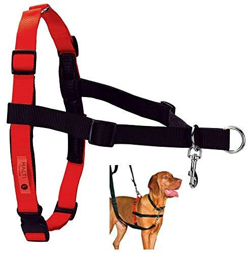 Halti Harness Ausbildungsgeschirr für Hunde/stoppt Ziehen/entwickelt von Roger Mugford/Größe: L/Farbe: rot,schwarz