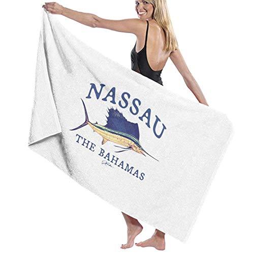 N\ Nassau, Bahamas, Vintage Sailfish Toalla de baño de secado rápido