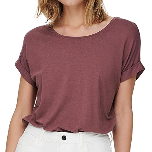 Only Damen ONLMOSTER S/S O-Neck TOP NOOS JRS T-Shirt, Rose Brown, M