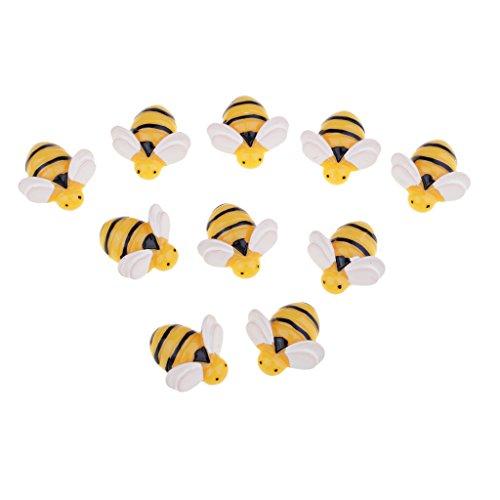 kowaku 10 Piece Bee Shape Resin Flatback Embellishment for DIY Phone Case Decoration