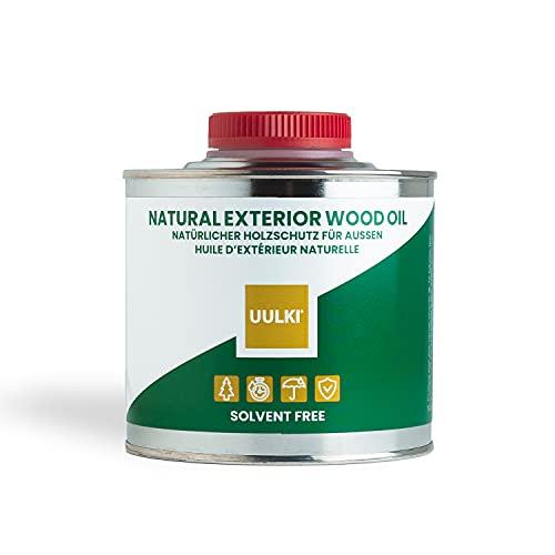 Uulki Aceite de madera natural de exterior para muebles, casas, suelos de jardín, terrazas, vallas, piedra, hormigón, metal (500 ml)