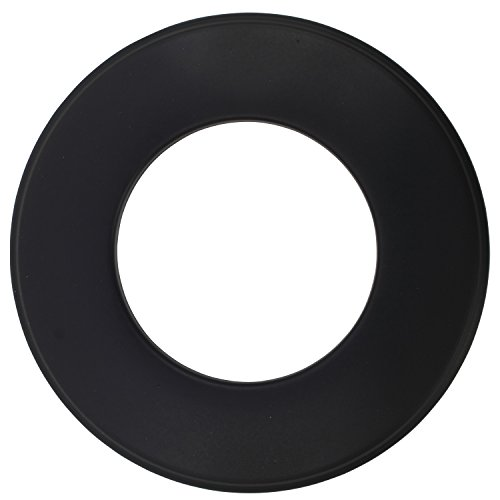 BAUPROFI Wandrosette für Pelletofen in der Farbe Schwarz, Ø 80 mm zur Abdeckung des Kaminanschlusses