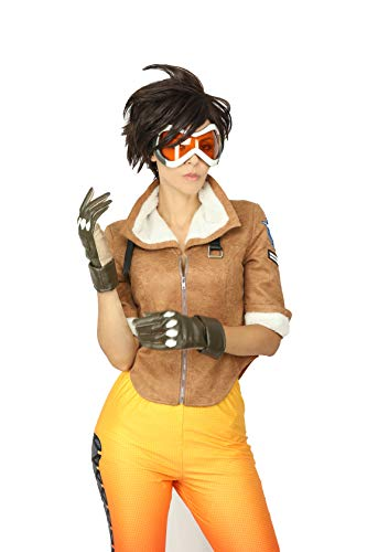 OW New Design Tracer Game Cosplay Costume Battle Cool Jacket With Collar for Women Yellow