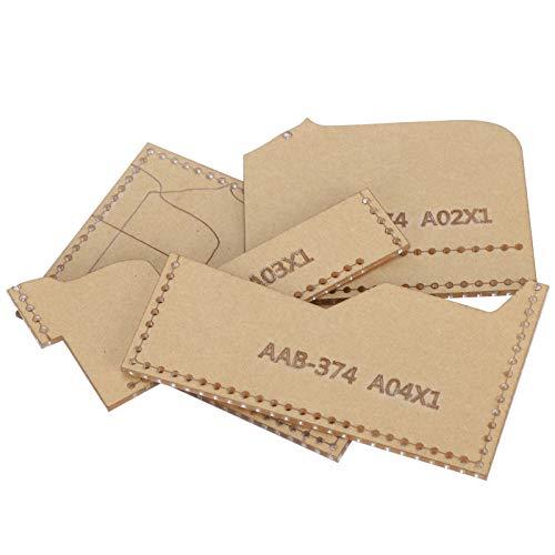 SALUTUYA Genaues Bastelwerkzeugset 4PCS Acryl Brieftasche Muster Schablonenvorlage Bärenform Leder Brieftasche Vorlage für Kartentasche