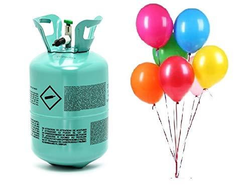 Bombola gas elio monouso con 50 palloncini kit gonfiaggio per feste o Matrimonio