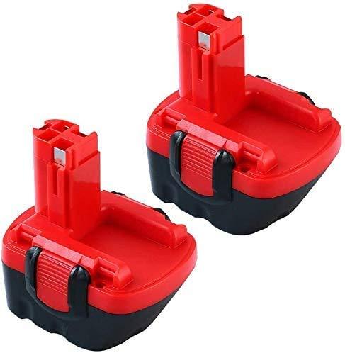 [2 Packs] Topbatt 12V 3000mAh de Repuesto para Bosch Batería Ni-MH PSB12VE-2 PSR12VE-2 PSR1200 PSR12-2 BAT043 BAT045 BAT120 2607335249 2607335261 Taladro inalámbrico Herramienta eléctrica