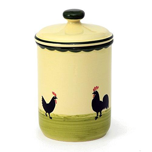 Zeller Keramik Hahn und Henne Vorratsdose ohne Schrift 1,00 I
